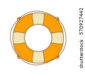 lifebuoy isolated. vector. | Shutterstock .eps vector #570927442
