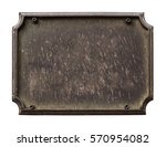 old plaque isolated on white   Shutterstock . vector #570954082