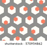 Stock vector seamless abstract pattern of geometric shapes geometric background with hexagons 570954862