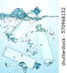 three bottles of thermal water  ... | Shutterstock . vector #570968152