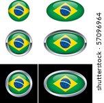 brazilian flag buttons | Shutterstock .eps vector #57096964