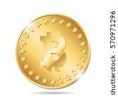 vector illustration of a coin... | Shutterstock .eps vector #570971296