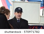 Small photo of NEW YORK CITY - JANUARY 31 2017: Thousands of union & non-union construction workers rallied by City Hall to urge passage of bill 1447 to improve safety. Vincent Alvarez, Pres AFL-CIO Central Council