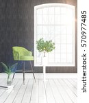 modern bright interior with... | Shutterstock . vector #570977485