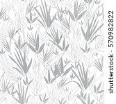 vector silver grey asian bamboo ... | Shutterstock .eps vector #570982822