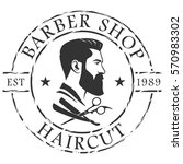 barber shop logo template | Shutterstock .eps vector #570983302