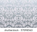 Abstract Silver Floral Pattern