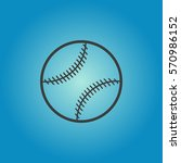 baseball ball icon. baseball... | Shutterstock .eps vector #570986152