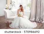 wedding. bride in beautiful... | Shutterstock . vector #570986692