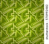bright green geometrical... | Shutterstock .eps vector #570992482