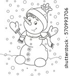 coloring page outline of... | Shutterstock .eps vector #570993706