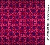 woman bright violet decorative... | Shutterstock .eps vector #570996112