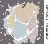 trendy geometric elements.... | Shutterstock .eps vector #570998356