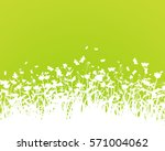 nature background with grass... | Shutterstock .eps vector #571004062