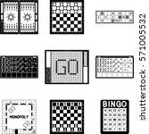 board games  go  domino  chess  ... | Shutterstock .eps vector #571005532