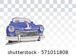 blue retro vintage old timer... | Shutterstock .eps vector #571011808