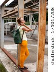 portrait of fashion model girl... | Shutterstock . vector #571017208