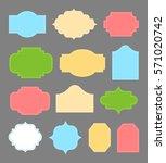 blank vintage colorful labels... | Shutterstock .eps vector #571020742