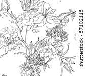 monochrome seamless pattern | Shutterstock .eps vector #57102115