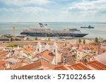lisbon  portugal   october ... | Shutterstock . vector #571022656