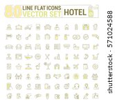 vector graphic set.icons in... | Shutterstock .eps vector #571024588