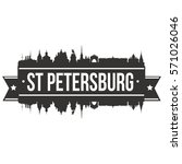 st petersburg skyline stamp... | Shutterstock .eps vector #571026046
