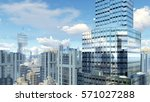 abstract modern high rise... | Shutterstock . vector #571027288