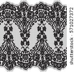 seamless black vector lace... | Shutterstock .eps vector #571027372
