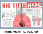 creative newspaper design  with ... | Shutterstock .eps vector #571037485