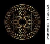 vector ornamental buddhist... | Shutterstock .eps vector #571038226