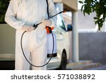 mid section of pest control man ... | Shutterstock . vector #571038892