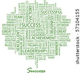 Success. Word Collage On White...