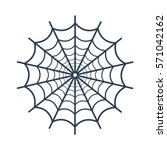 spider web icon on white... | Shutterstock .eps vector #571042162