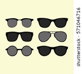 modern and fashion sunglasses... | Shutterstock .eps vector #571046716