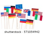 flags of usa and european union ... | Shutterstock . vector #571054942