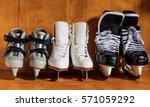 the whole family loves to skate ... | Shutterstock . vector #571059292