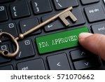 closed up finger on keyboard... | Shutterstock . vector #571070662