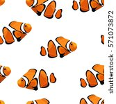 tropical reef clown fish... | Shutterstock .eps vector #571073872