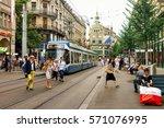 zurich  switzerland   september ... | Shutterstock . vector #571076995