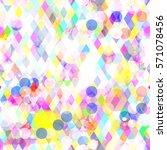 rhombus and circles. light... | Shutterstock .eps vector #571078456