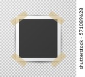 realistic square photo frame... | Shutterstock .eps vector #571089628