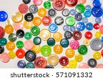 a big set of buttons in various ... | Shutterstock . vector #571091332