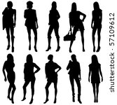 vector fashion model... | Shutterstock .eps vector #57109612