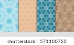 creative set of decorative... | Shutterstock .eps vector #571100722