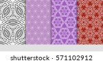 set of borders with repeating...   Shutterstock .eps vector #571102912