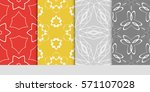 creative set of decorative...   Shutterstock .eps vector #571107028