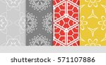 creative set of decorative... | Shutterstock .eps vector #571107886