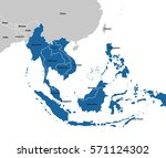 southeast asia map | Shutterstock .eps vector #571124302