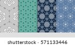 set of borders with repeating... | Shutterstock .eps vector #571133446