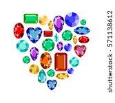 set of realistic jewels.... | Shutterstock .eps vector #571138612